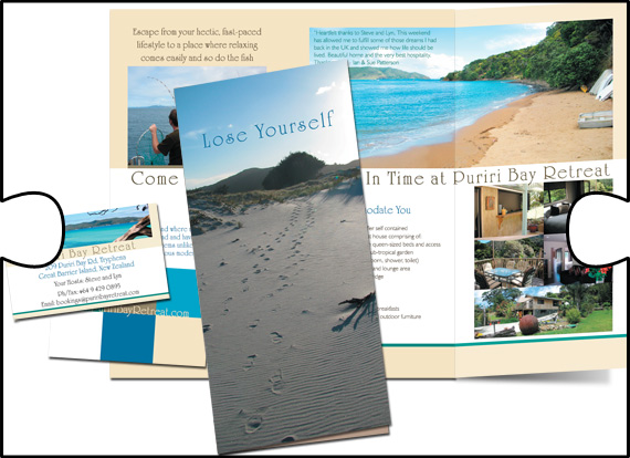 Puriri Bay Retreat had all its business cards and promotional brochures designed by Jigsaw Design. Jigsaw Design also acted as print liaison